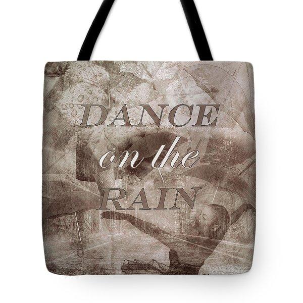 Dance On The Rain In Sepia Tones Tote Bag
