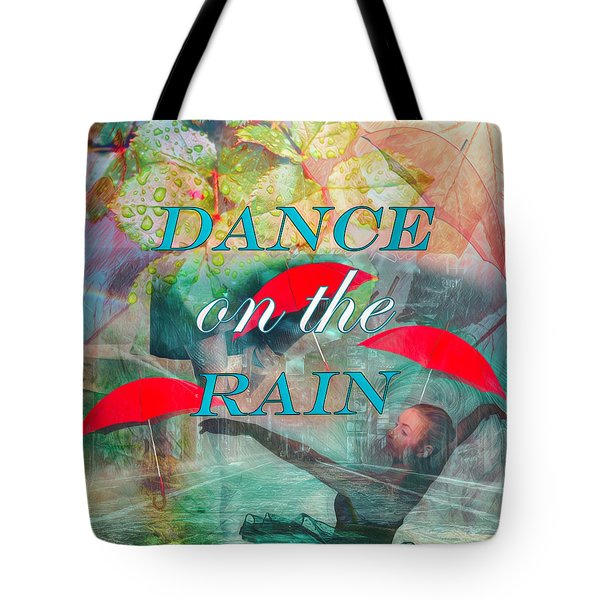 Dance On The Rain Watercolor Painting Tote Bag