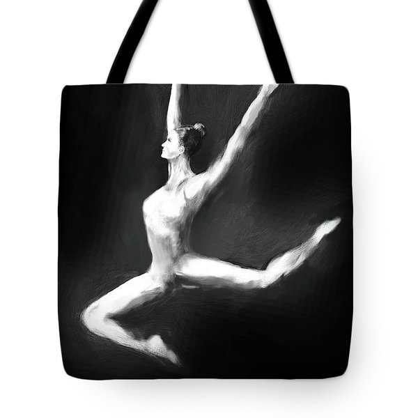 Dancer In Black And White Tote Bag