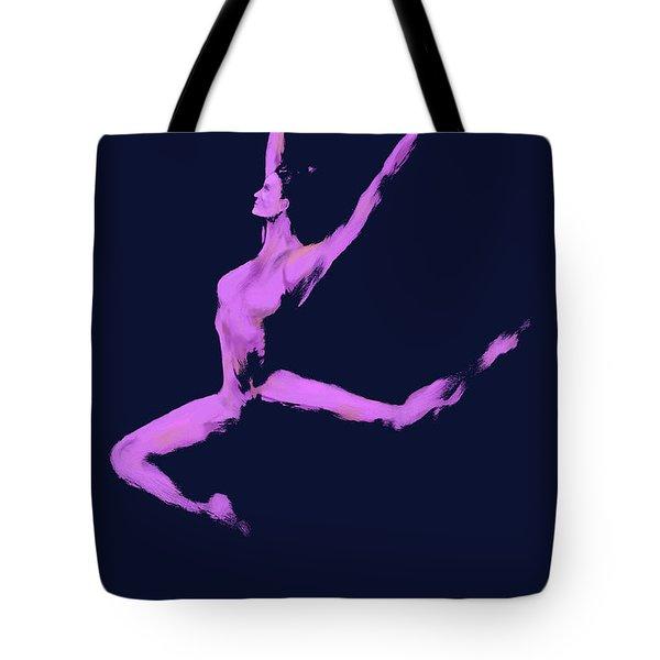 Dancer In The Dark Blue Tote Bag