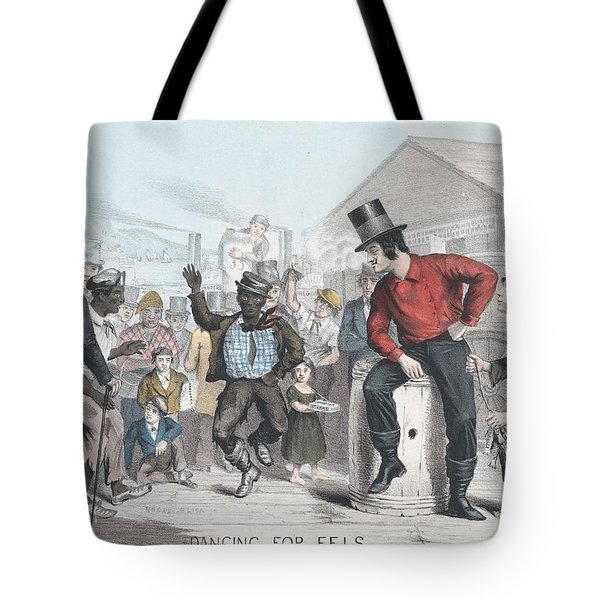 Dancing For Eels James Brown American, Active 1840-59 Tote Bag