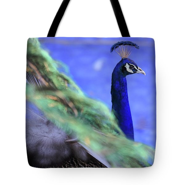 Dancing Peacock Tote Bag