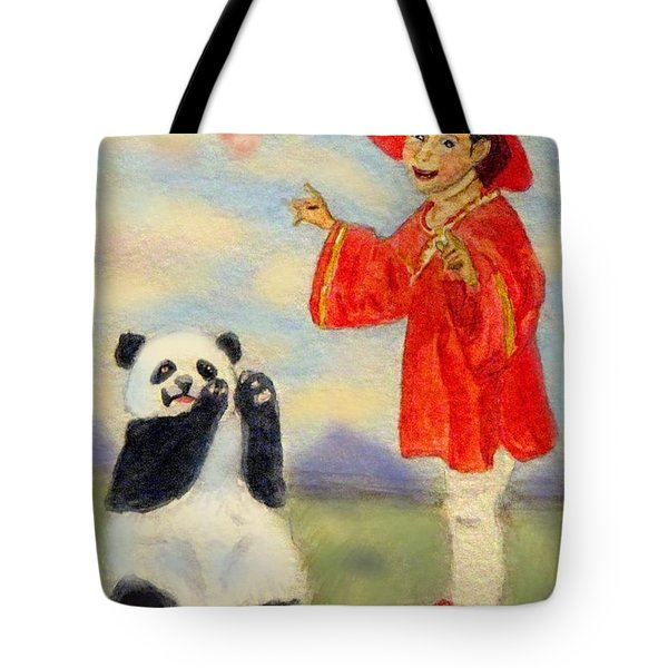 Dancing Under The Cherry Blossoms Tote Bag