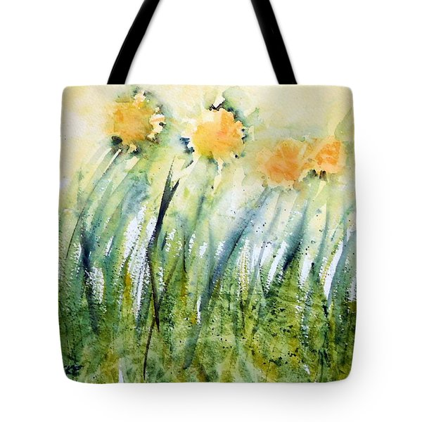 Dandelions In The Grass Tote Bag