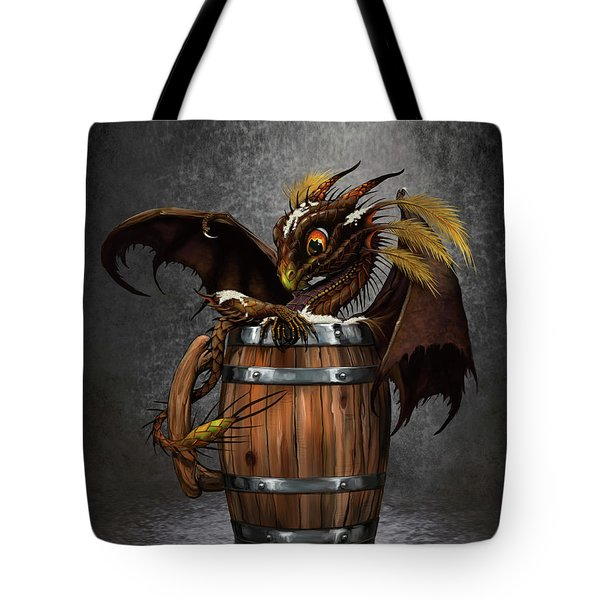 Dark Beer Dragon Tote Bag