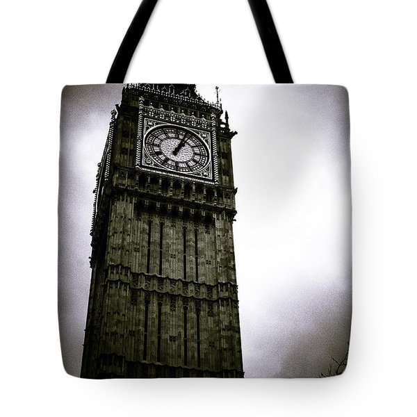 Dark Big Ben Tote Bag