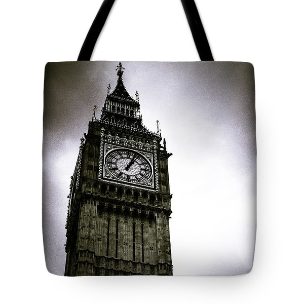Dark Big Ben Tote Bag
