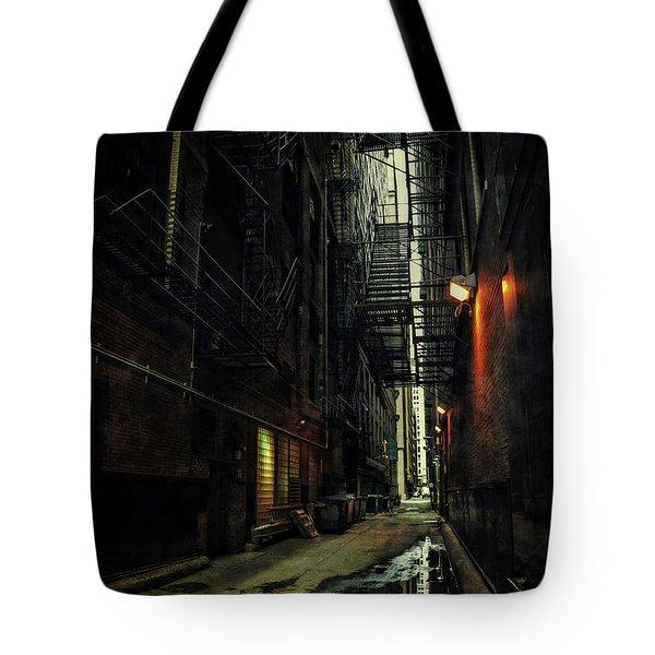 Dark Chicago Alley Tote Bag