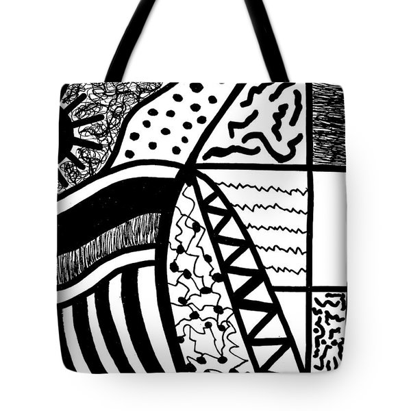 Darkness And Light 4 Tote Bag