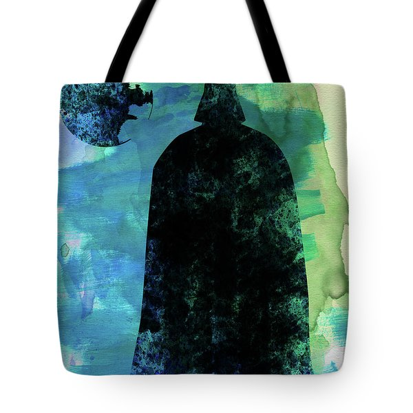 Darth And A Star Watercolor Tote Bag