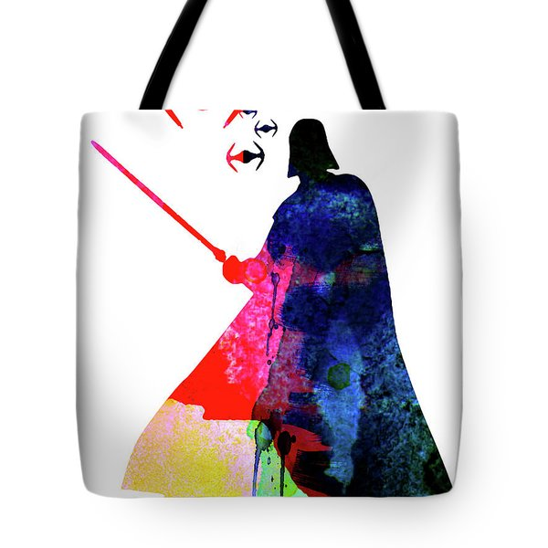 Darth Fighting Watercolor 1 Tote Bag