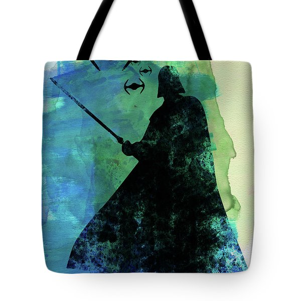 Darth Fighting Watercolor Tote Bag