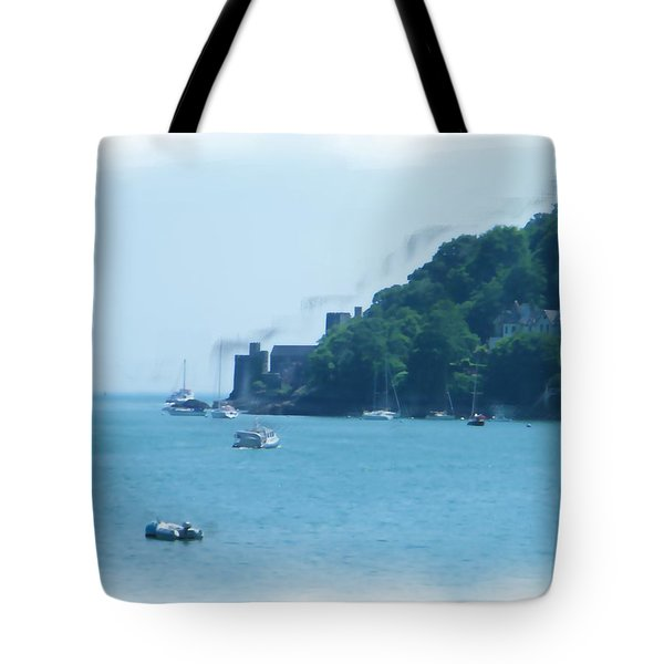 Dartmouth Castle Painting Tote Bag