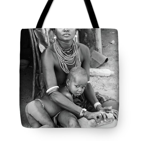 Dassanech Mother And Child Tote Bag
