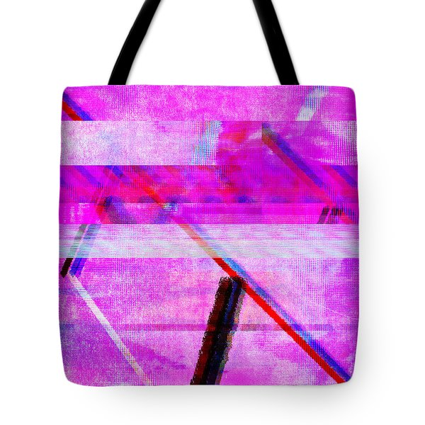 Tote Bag featuring the digital art Databending #1 by Bee-Bee Deigner