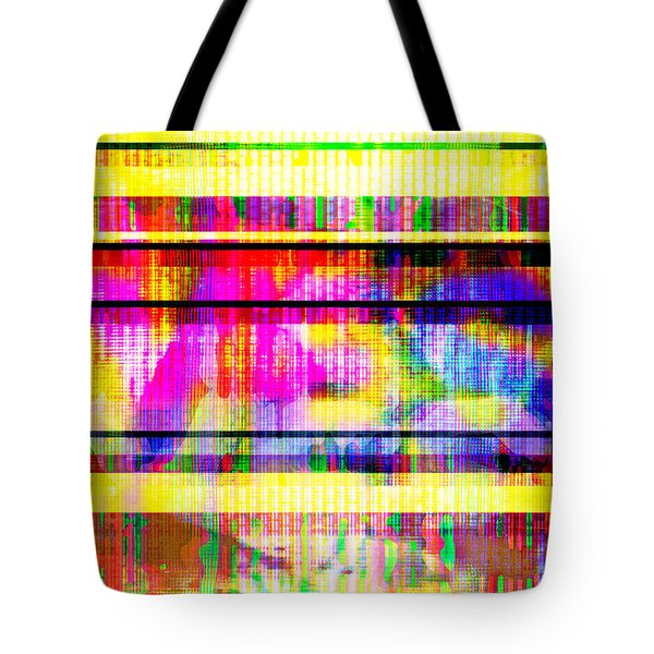 Tote Bag featuring the digital art Databending #2 Hidden Messages by Bee-Bee Deigner