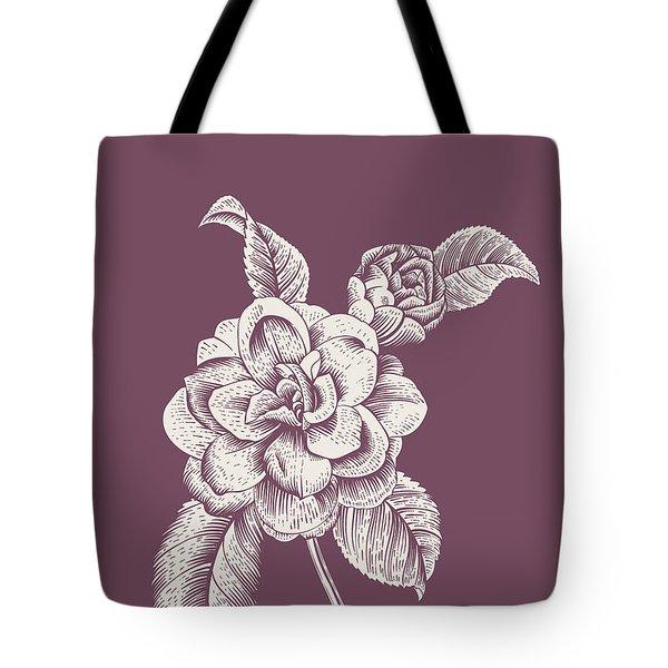 Blush Pink Tropical Leaf I Tote Bag