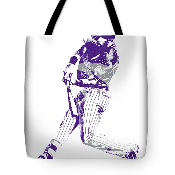 David Dahl Colorado Rockies Pixel Art  Tote Bag