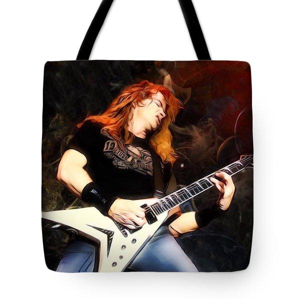 David Mustaine Portrait Tote Bag