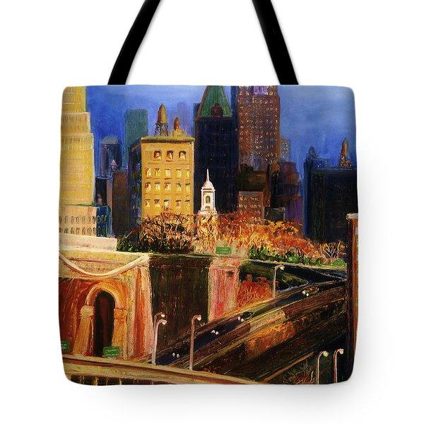 Dawn At City Hall Tote Bag