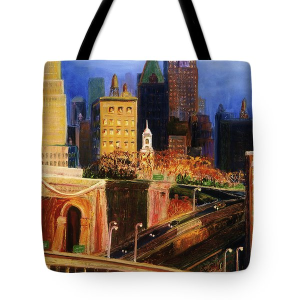 Dawn At City Hall Tote Bag