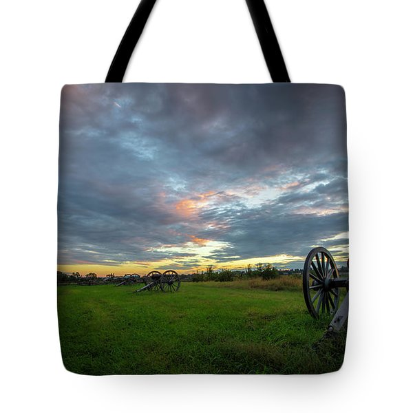 Tote Bag featuring the photograph Dawn At Gettysburg by Ronald Santini