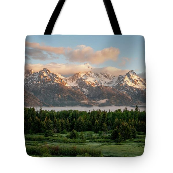 Dawn At Grand Teton National Park Tote Bag