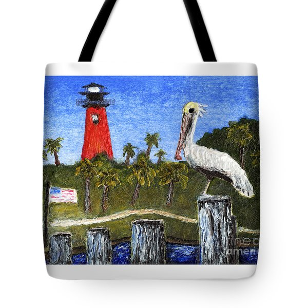 Aceo Dawn At Jupiter Inlet Lighthouse Florida 52a Tote Bag