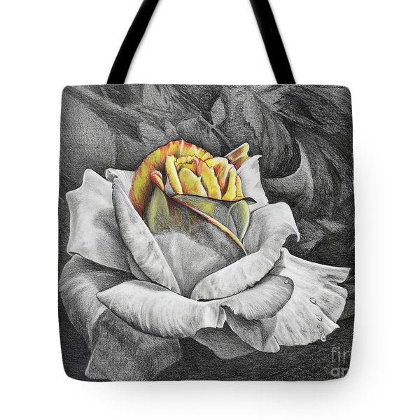 Tote Bag featuring the drawing Dawn by Nancy Cupp