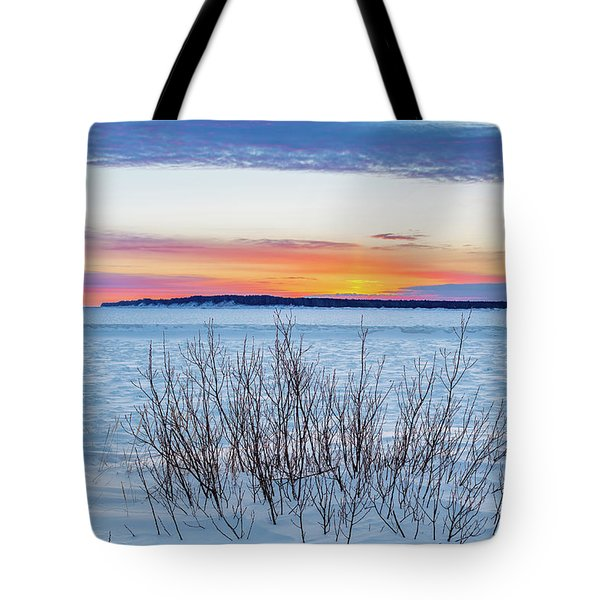 Daybreak Over East Bay Tote Bag
