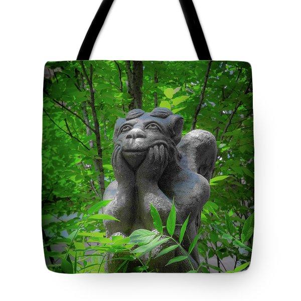 Daydreaming Gargoyle Tote Bag