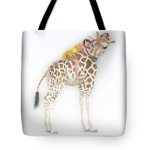 Daydreaming Of Giraffes  Tote Bag