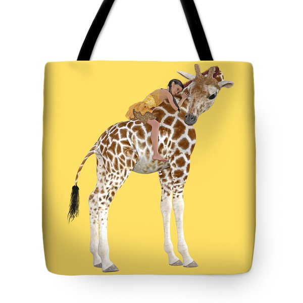 Daydreaming Of Giraffes Png Tote Bag