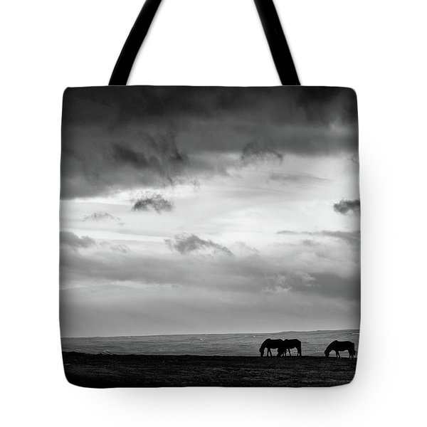 Days End At Hvammstangi Tote Bag