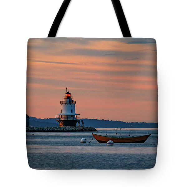 Day's End At Spring Point Tote Bag