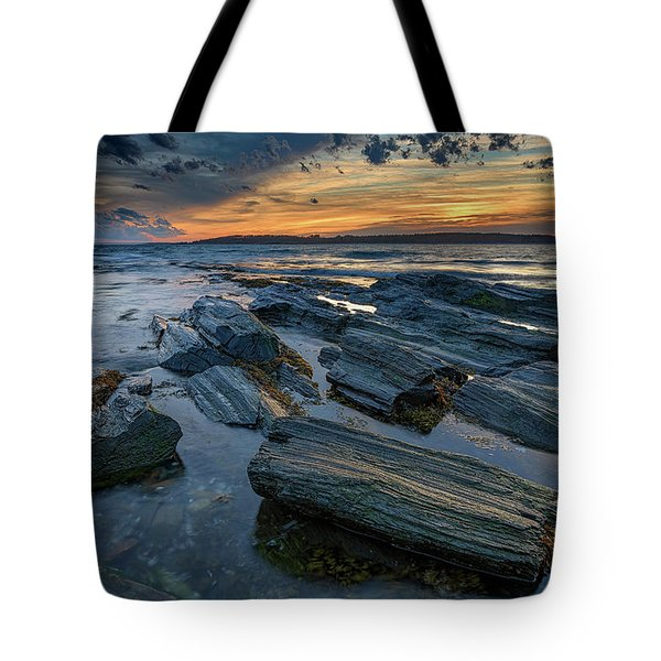 Day's End In Kettle Cove Tote Bag