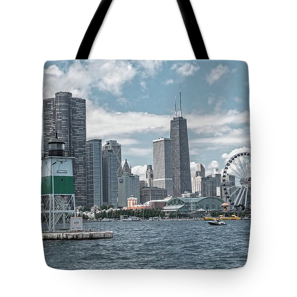 Dazzling Day Navy Pier Chicago Tote Bag