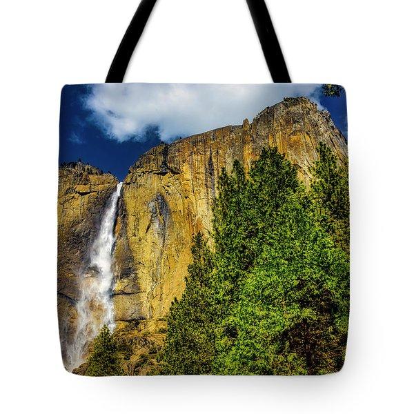 Dazzling Yosemite Falls Tote Bag