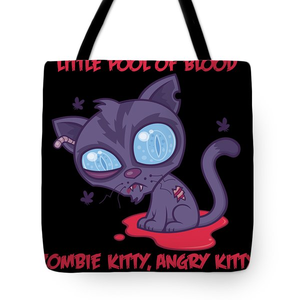 Dead Cold Angry Zombie Kitty Tote Bag