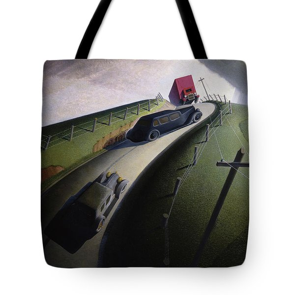 Death On The Ridge Road, 1935 Tote Bag
