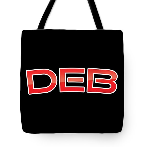 Tote Bag featuring the digital art Deb by TintoDesigns