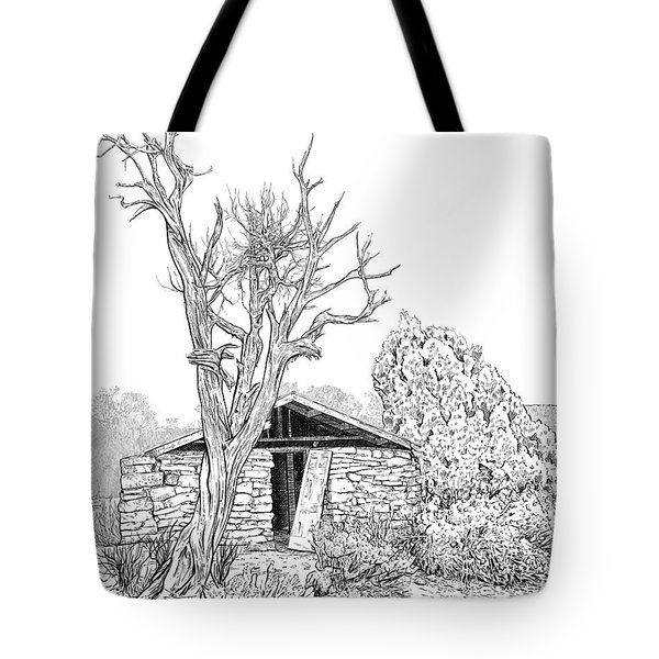 Decay Of Calamity The Half Life Of A Dream Black And White  Tote Bag