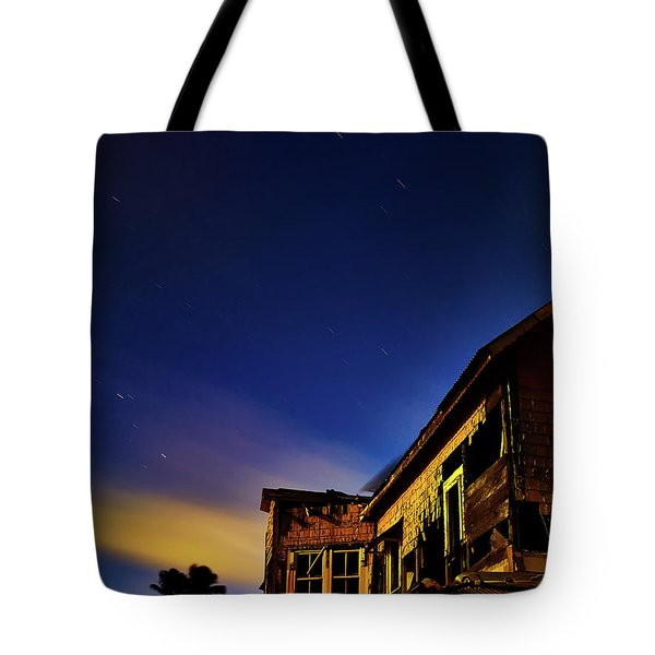 Decaying House In The Moonlight Tote Bag