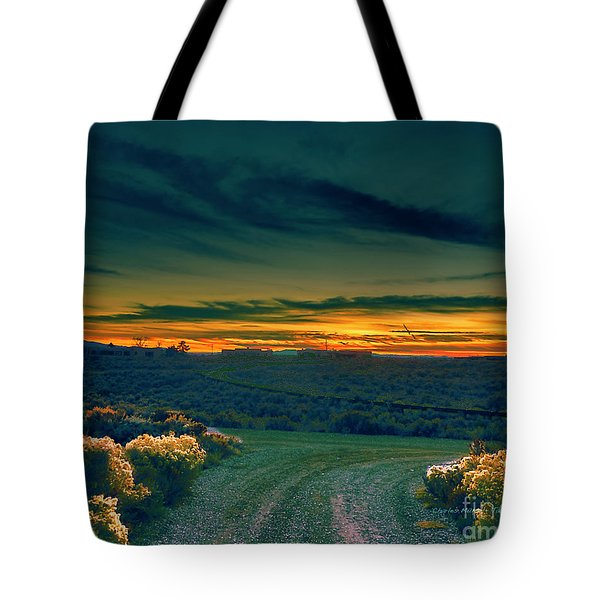 December Evening Tote Bag