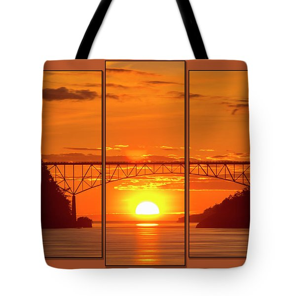 Deception Pass Sunset Panels Tote Bag