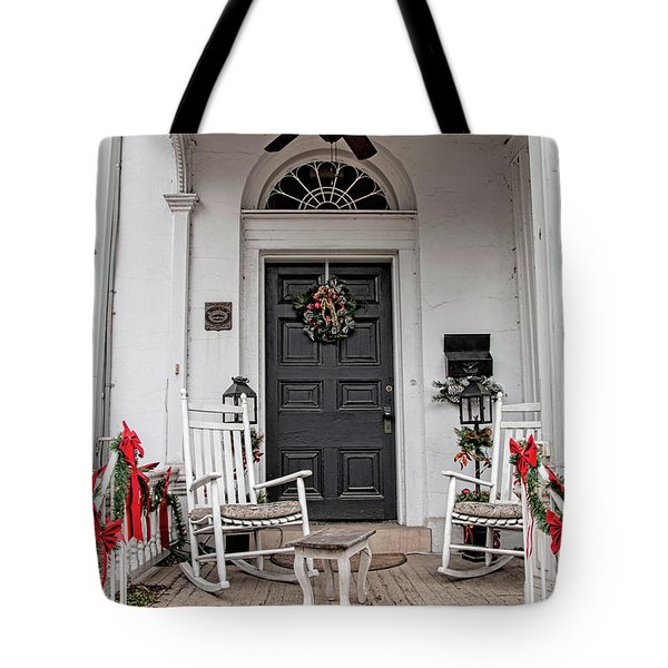 Tote Bag featuring the photograph Deck The Porch by Kristia Adams