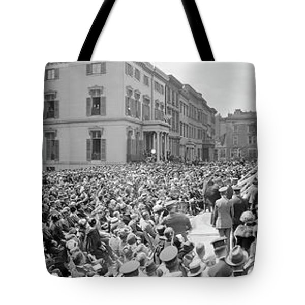 Dedication Of The Lafayette Statue Tote Bag