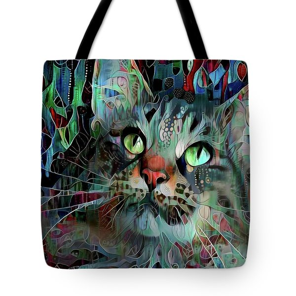 Deedee In Blue And Red Tote Bag