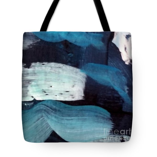 Tote Bag featuring the painting Deep Blue #3 by Maria Langgle