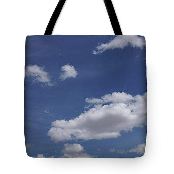 Deep Blue Sky And Fluffy Cumulous Cloud Tote Bag